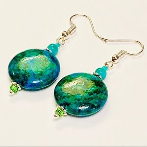 THE MIND'S EYE. Chrysocolla Earrings